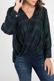 Dee Elly Plaid Overlay Top - Product Mini Image