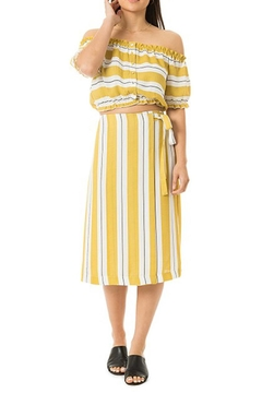 Dee Elly Yellow Stripe Skirt - Alternate List Image