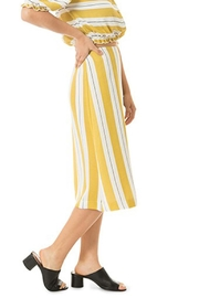 Dee Elly Yellow Stripe Skirt - Product Mini Image