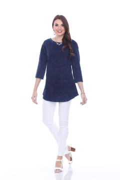 True Blue  Deep Blue Blouse - Alternate List Image
