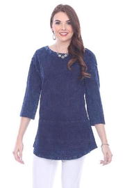 Parsley & Sage Deep Blue Blouse - Front full body