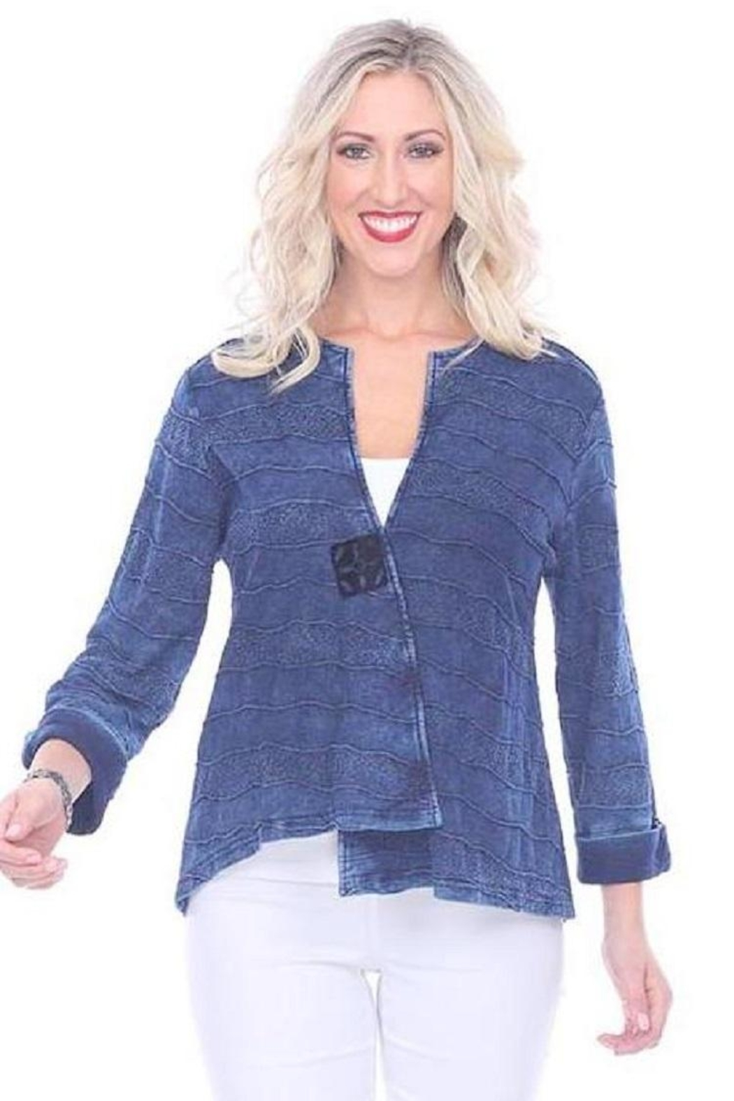 Parsley & Sage Deep Blue Jacket - Front Full Image
