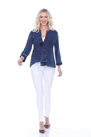 Parsley & Sage Deep Blue Jacket - Front cropped