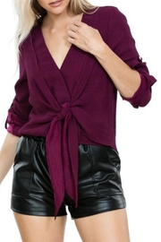 Ark & Co. Deep Plum V-Neck - Product Mini Image