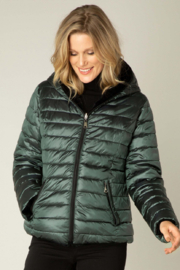 yest  Deep Teal Slim Reversible Puffer - Product Mini Image