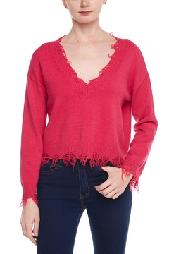 Shoptiques Product: Deep-v Distressed Sweater