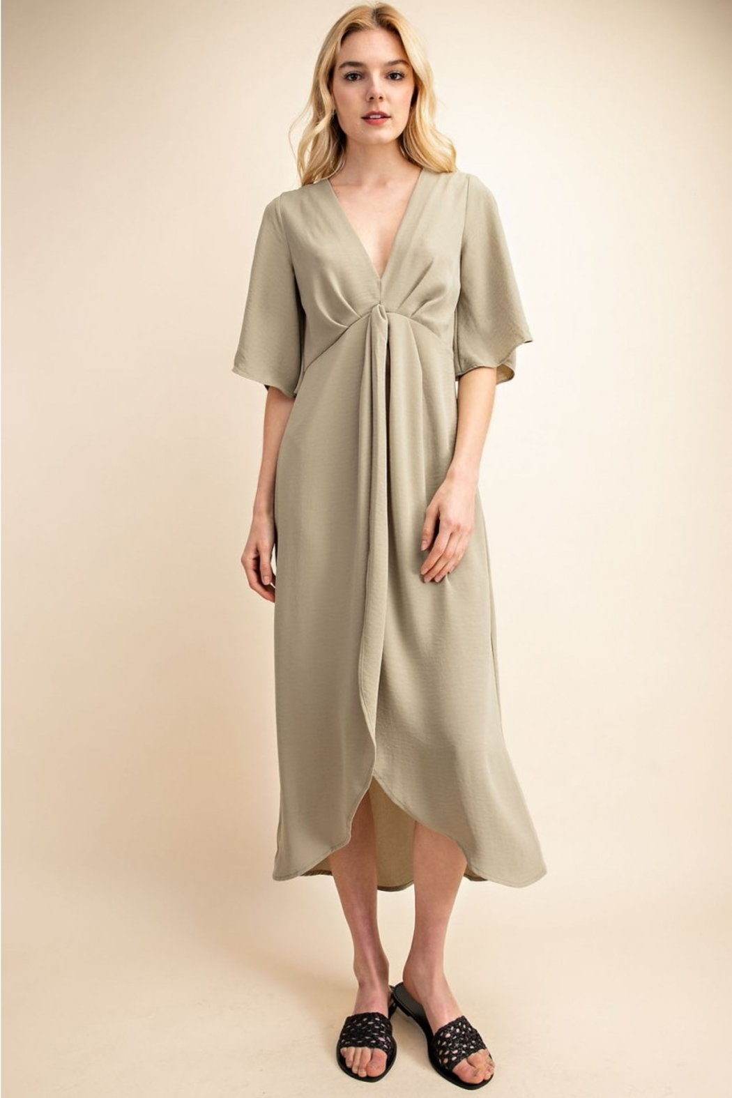 Gilli  Deep V Knot Dress - Main Image