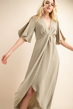 Gilli  Deep V Knot Dress - Alternate List Image
