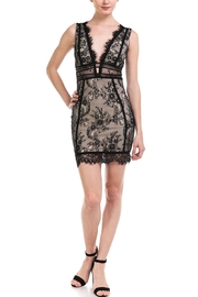 Mad For Love Deep-v Lace Dress - Product Mini Image