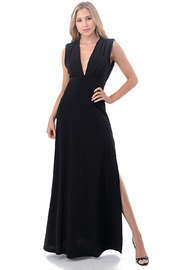 Ariella USA Deep V Maxi w Side Slit - Product Mini Image