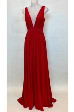 Mac Duggal DEEP V NECK LINE GOWN - - Product List Image