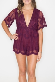 Wild Honey Deep V Romper - Product Mini Image