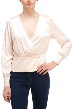 Shoptiques Product: Deep-v Satin Blouse