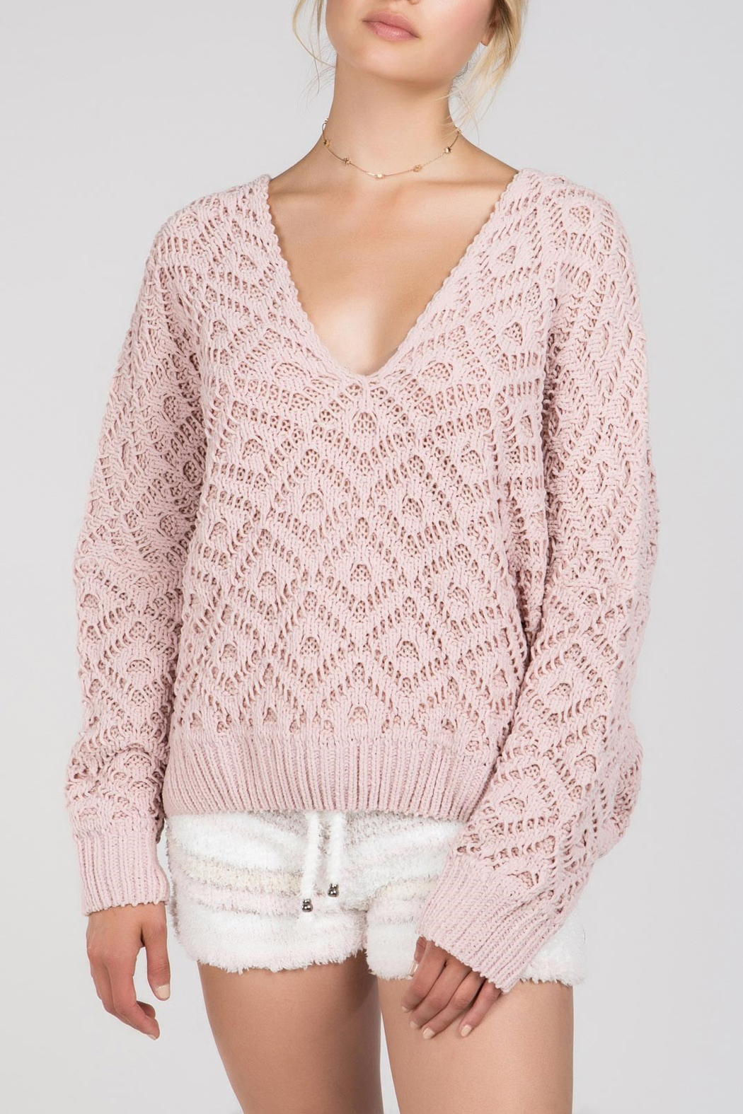 POL Deep V Sweater - Front Cropped Image