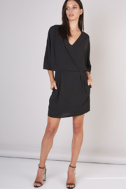 Do & Be Deep V Wing Sleeve Dress - Product Mini Image