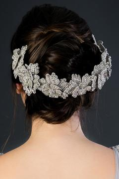 Deepa Gurnani Silver Flower Crown - Alternate List Image