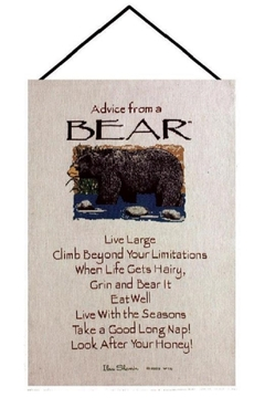 Manual Woodworkers and Weavers Animal  Advice Tapestry - Product List Image