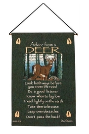 Manual Woodworkers and Weavers Deer Advice Tapestry - Product Mini Image