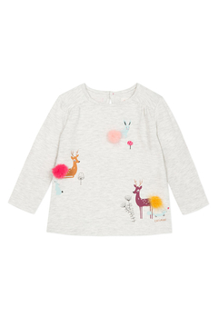Shoptiques Product: Deer Printed T-shirt with Pompoms