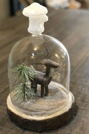 All State Floral Deer Terrarium - Front cropped