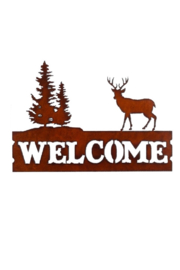 Rustic Ironwerks Welcome w/ Deer Sign - Product Mini Image