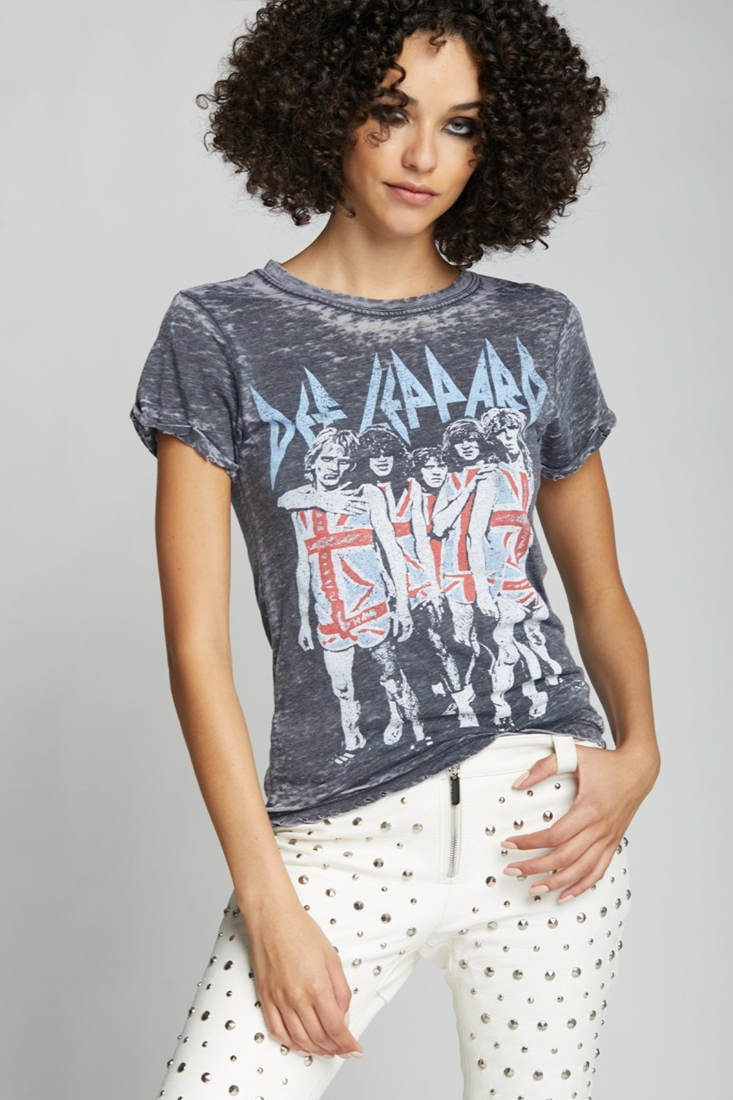 Recycled Karma Def Leppard Band Tee - Main Image