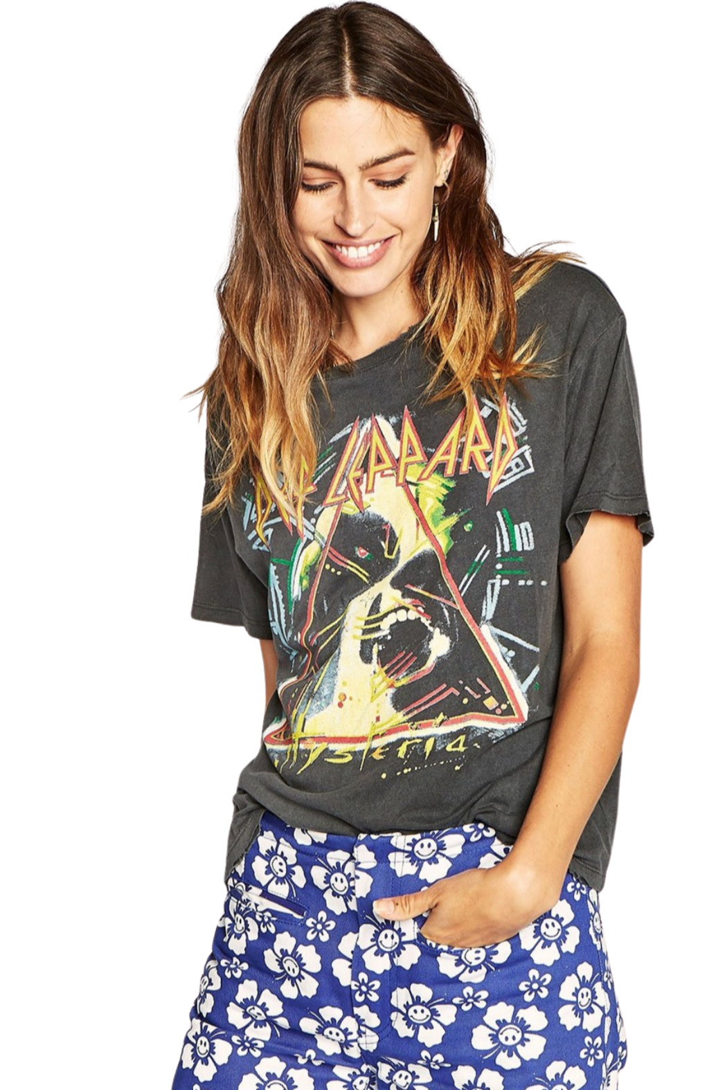 Daydreamer  Def Leppard Hysteria Tour Tee - Front Cropped Image