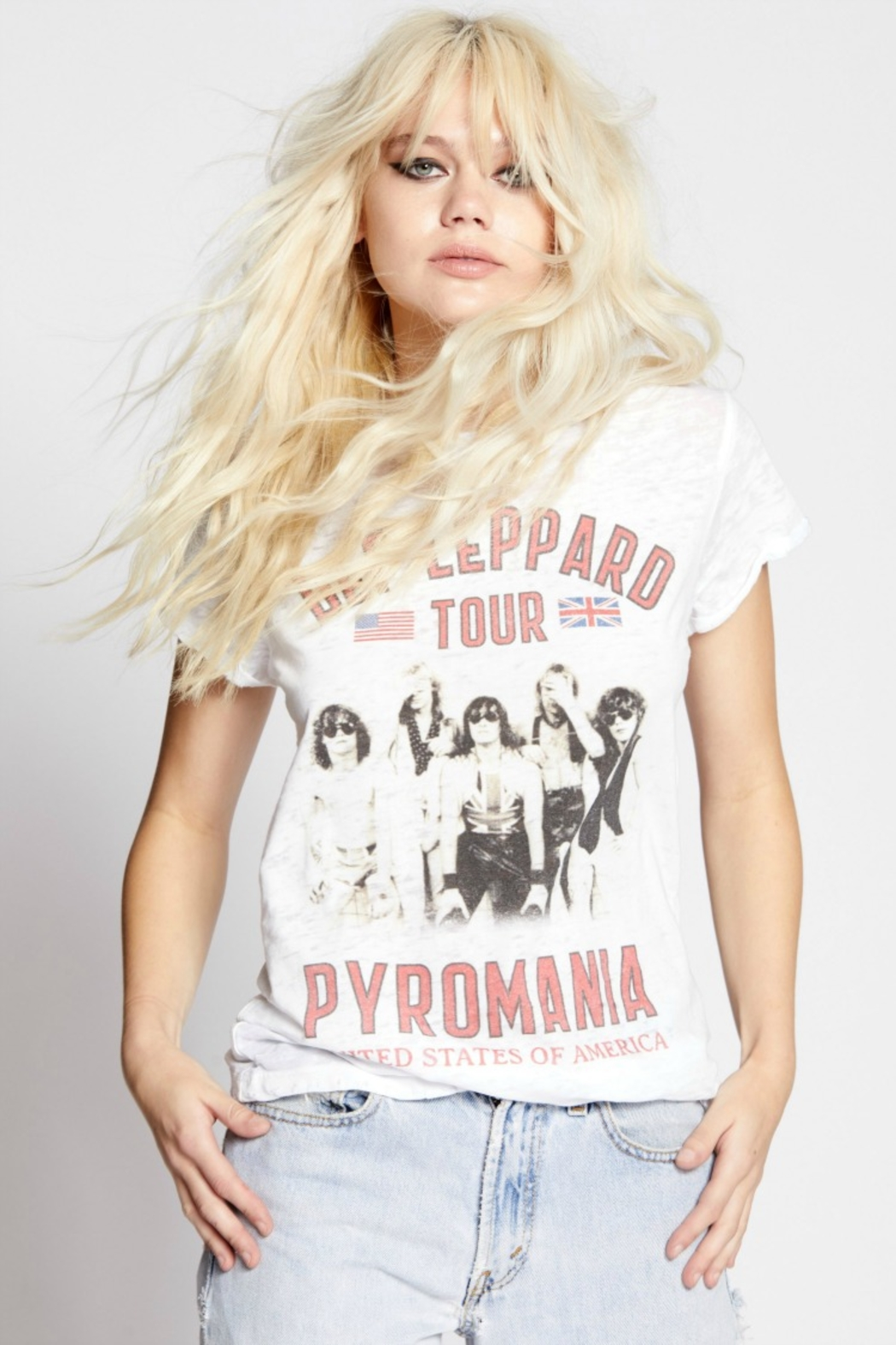 Recycled Karma DEF LEPPARD PYROMANIA-WHITE - Front Full Image
