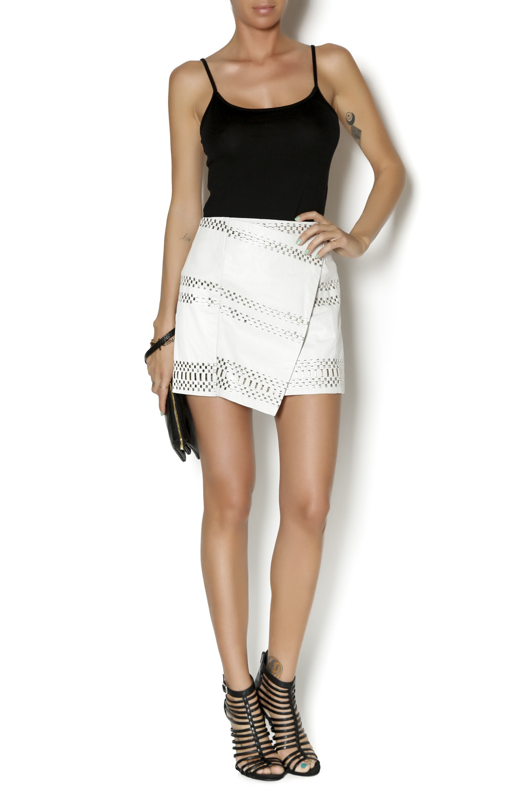 Parker Westin Leather Skirt - Front Full Image