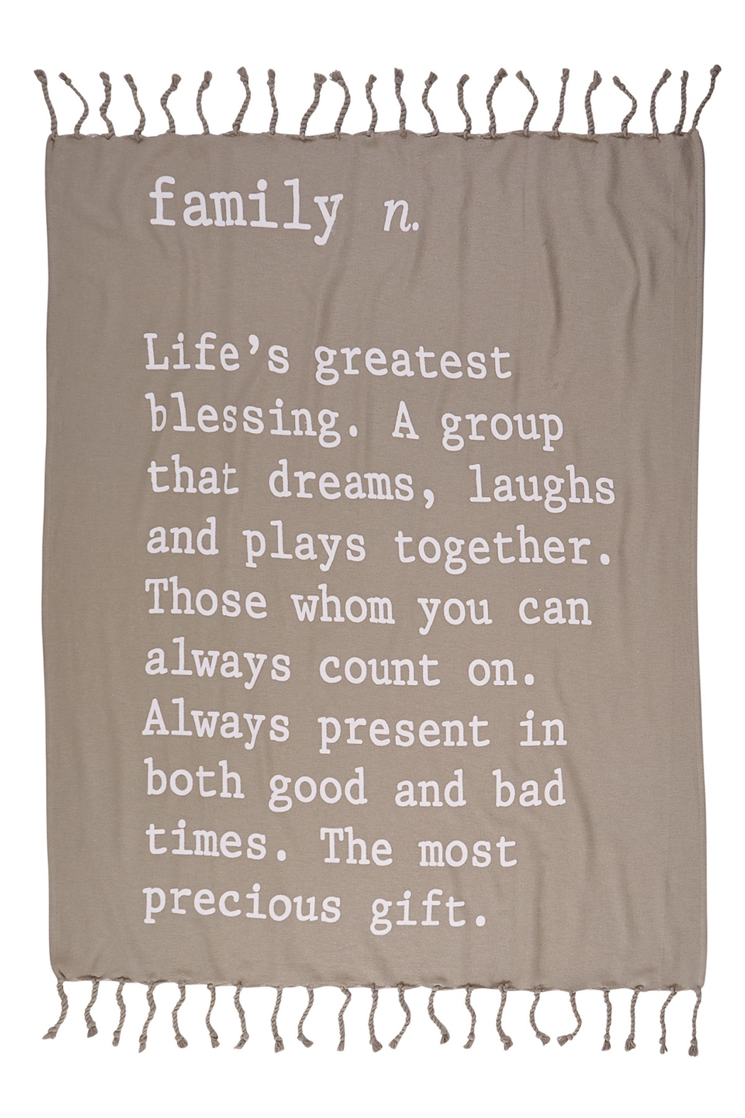 Mud Pie Definition Blanket - Front Cropped Image