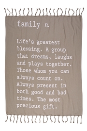 Mud Pie Definition Blanket - Front cropped