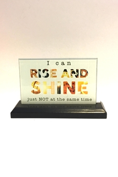 Shoptiques Product: Glass Saying Sign