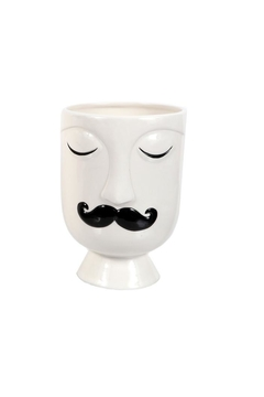 Shoptiques Product: Small Mustache Face Vase