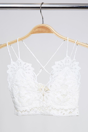 Peach Love California Deilcate Petal Lace Bralette - Other