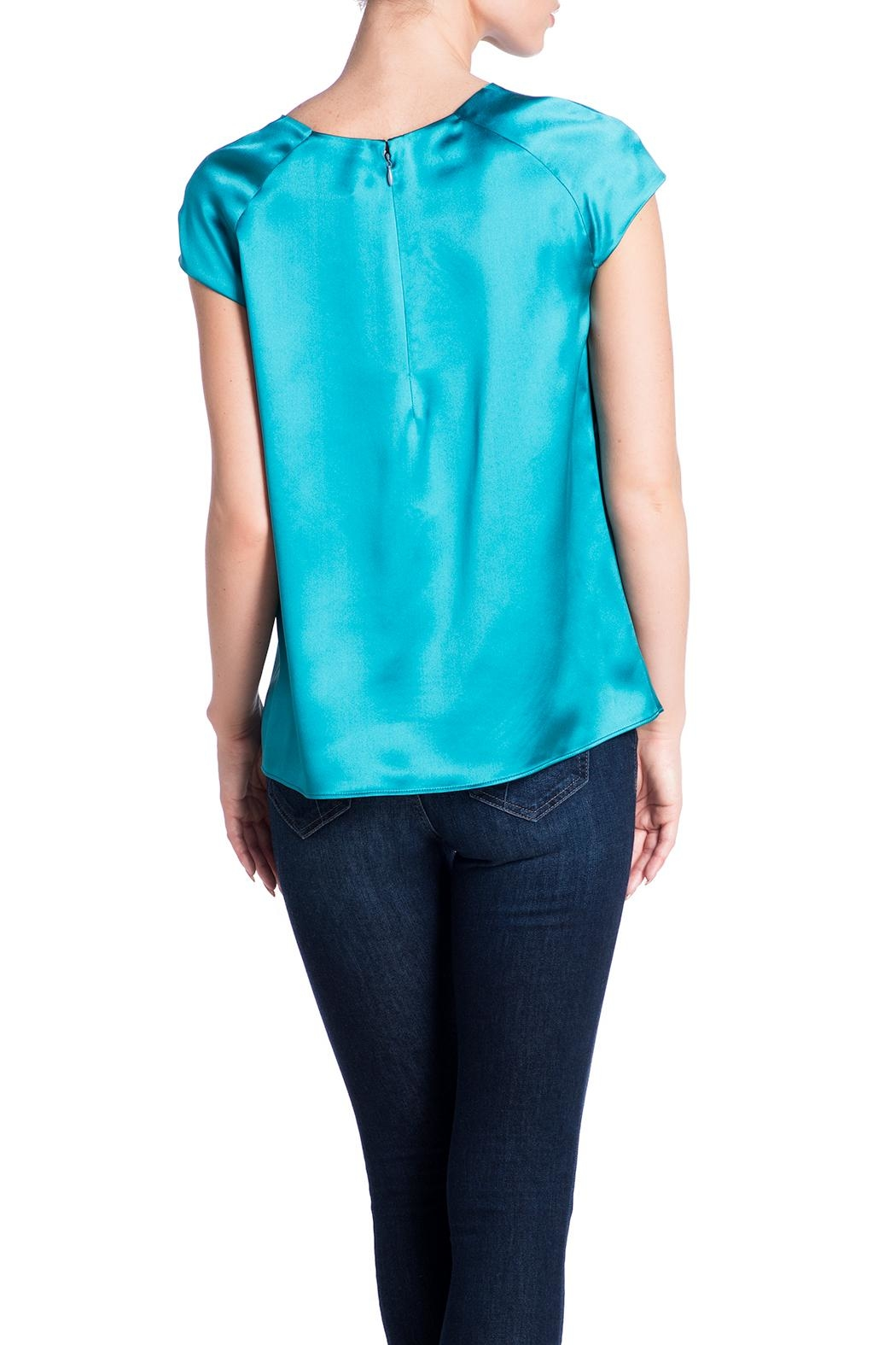 Deitas Silk Cap Sleeved Top - Back Cropped Image