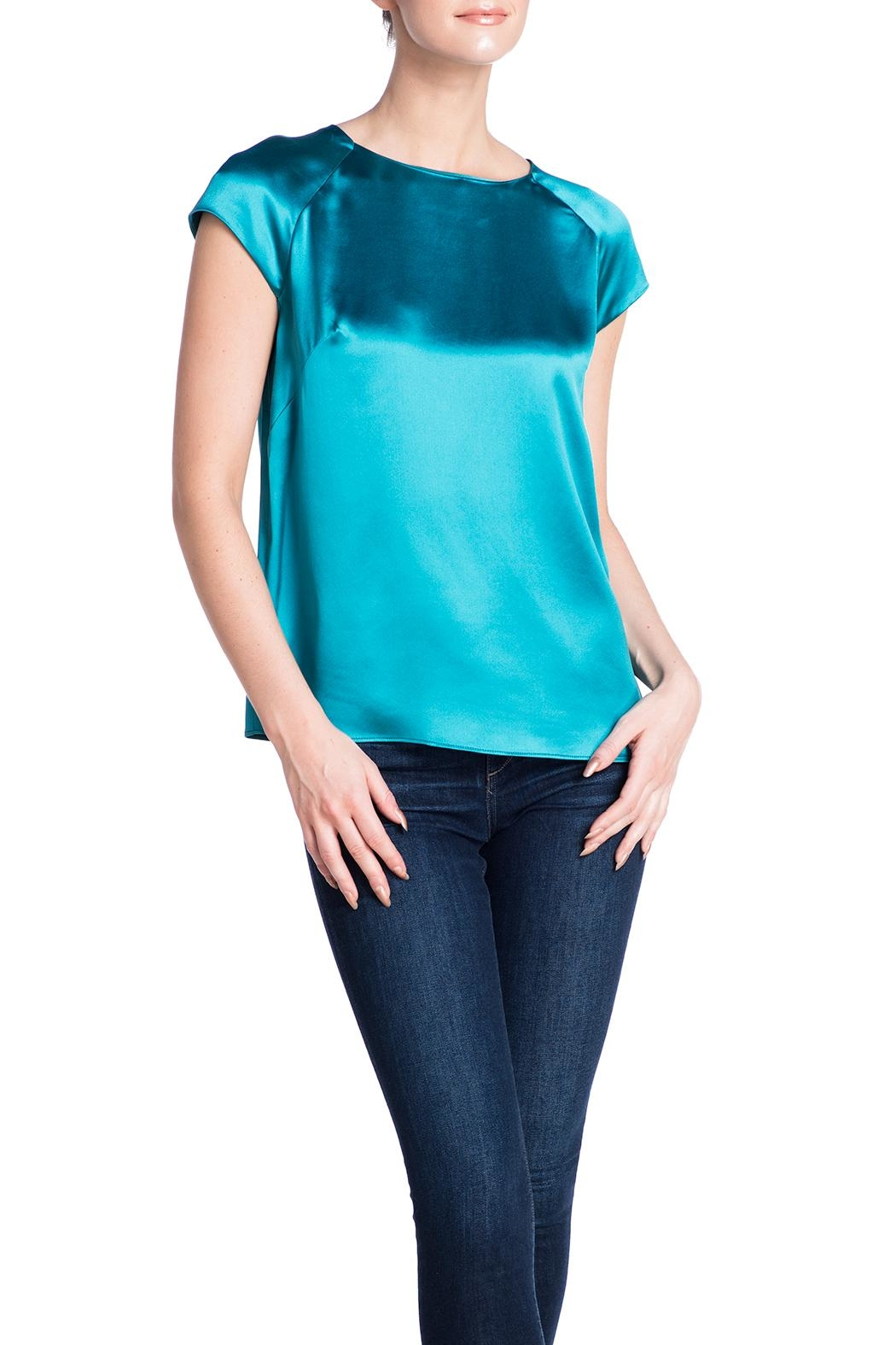 Deitas Silk Cap Sleeved Top - Front Cropped Image