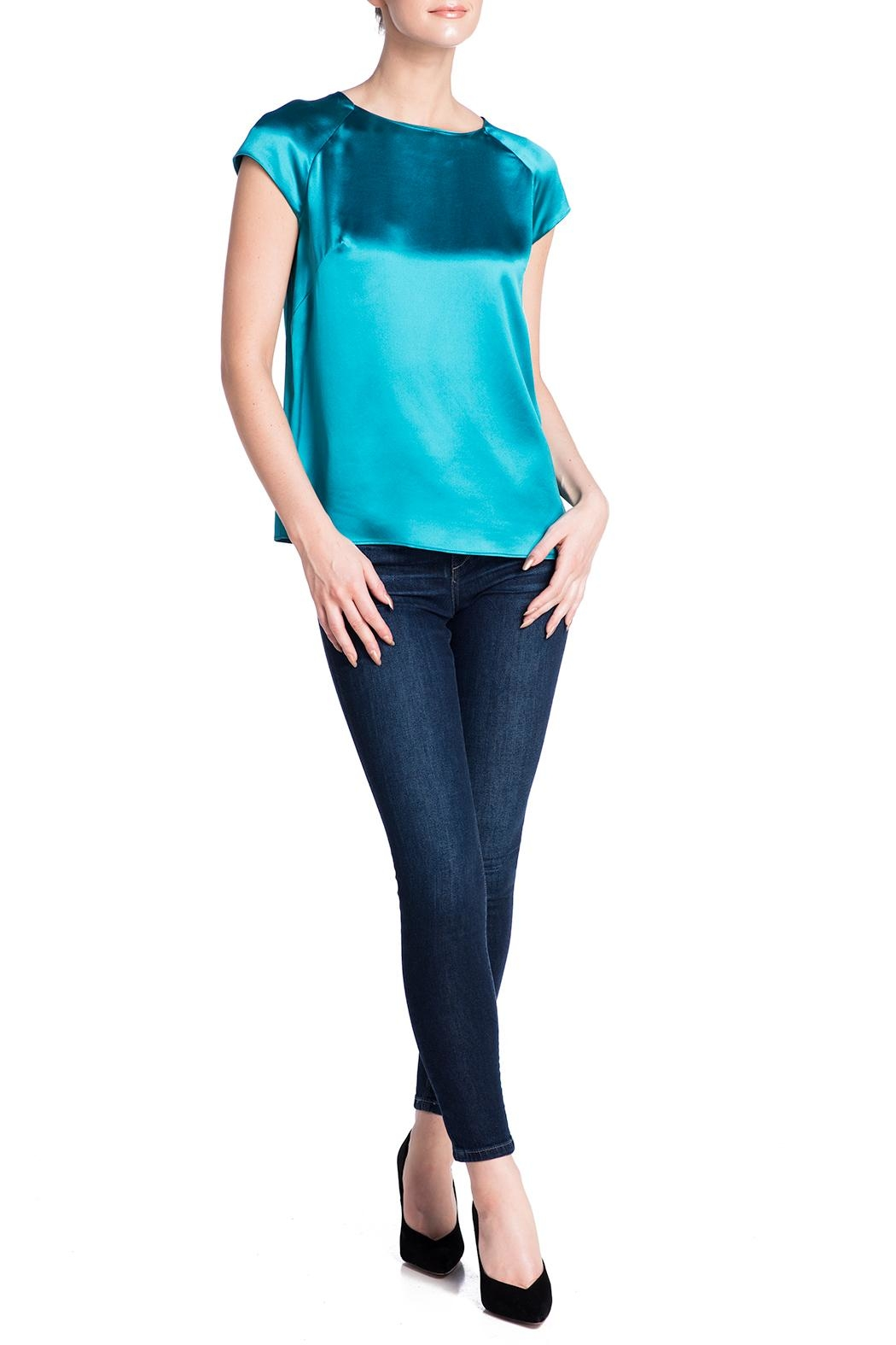 Deitas Silk Cap Sleeved Top - Side Cropped Image
