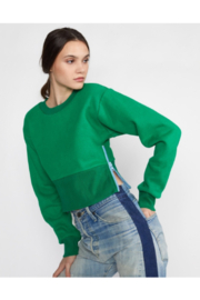 Cynthia Rowley Del Cropped Side Zip Sweatshirt - Product Mini Image