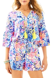 Lilly Pulitzer Del Lago Romper - Front cropped