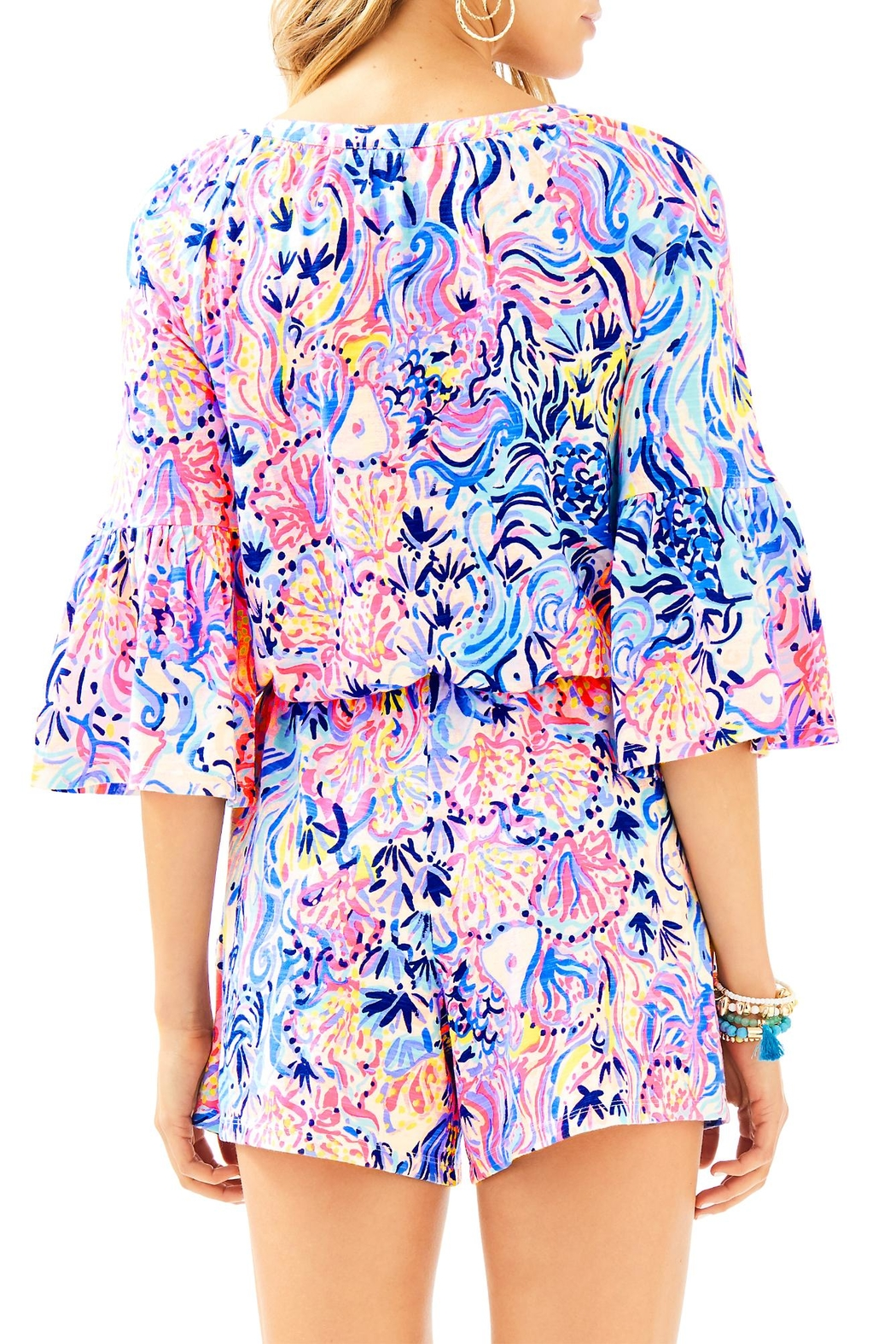 Lilly Pulitzer Del Lago Romper - Front Full Image