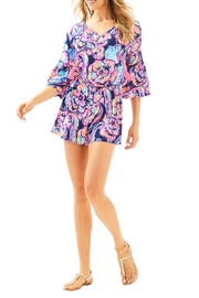 Lilly Pulitzer Del Lago Romper - Back cropped