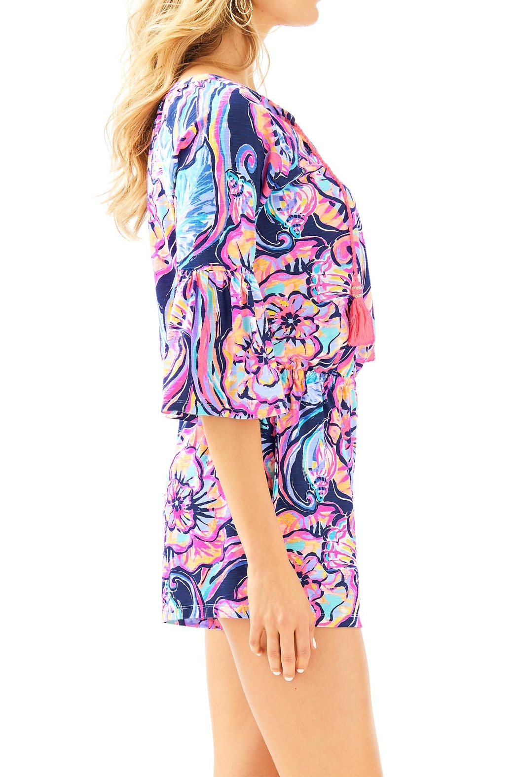 Lilly Pulitzer Del Lago Romper - Side Cropped Image