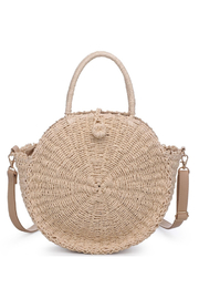Urban Expressions Del Mar Straw Crossbody - Front cropped