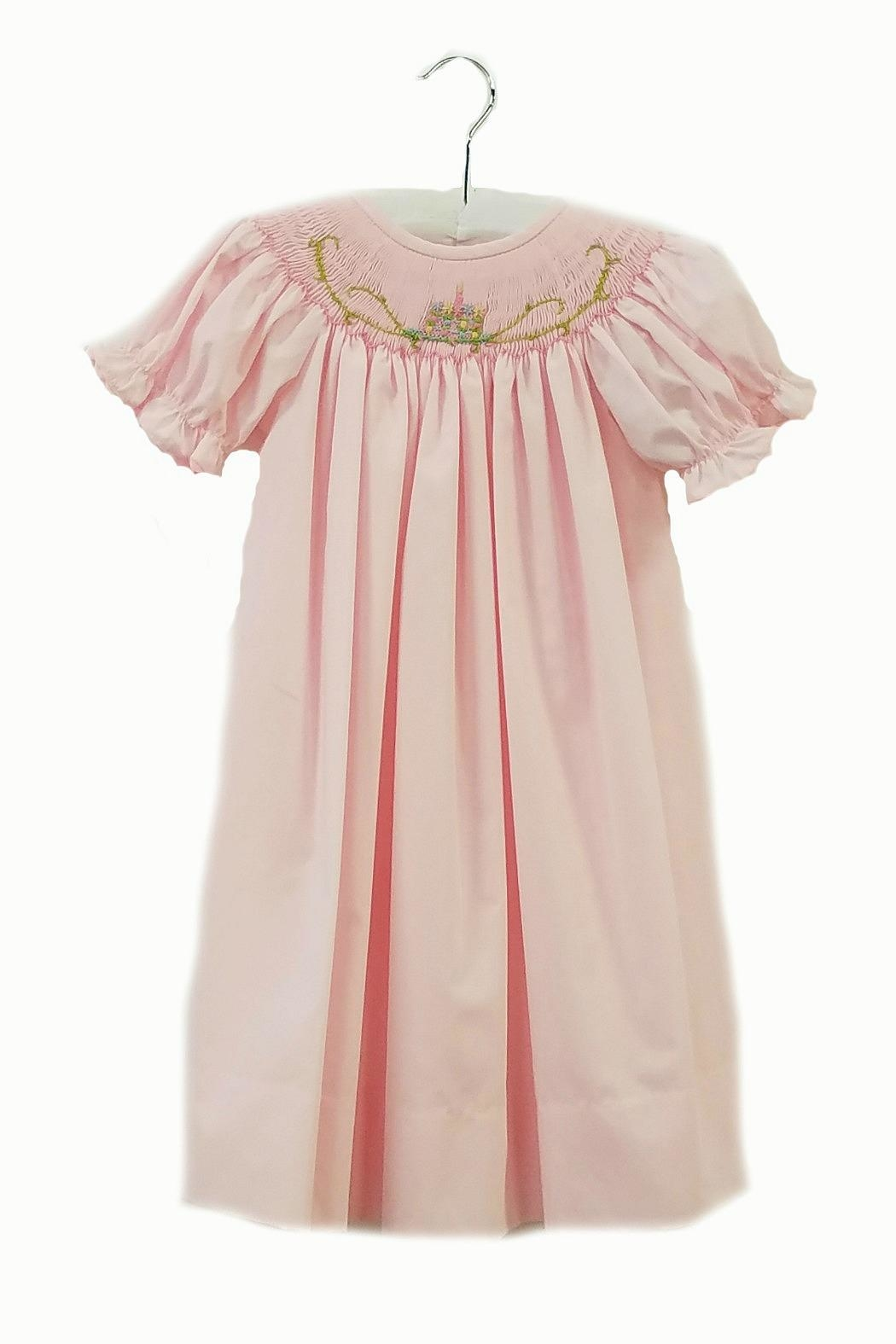 Delaney Girls Smocked-Birthday Dress - Front Cropped Image