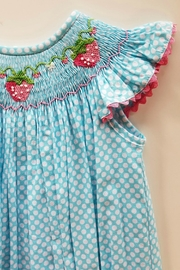 Delaney Strawberry Smocked Bubble - Side cropped