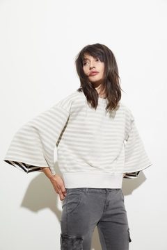 Shoptiques Product: Delia Striped Sweatshirt