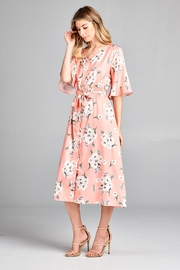 Racine Delicate Floral-Print Midi-Dress - Front full body