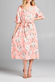 Racine Delicate Floral-Print Midi-Dress - Product Mini Image