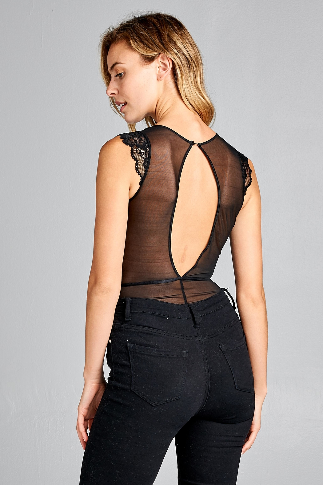 Racine Delicate Lace Bodysuit - Side Cropped Image