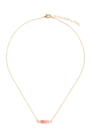 Riah Fashion Delicate Stone Necklace - Product Mini Image